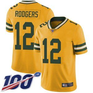 Packers Aaron Rodgers 100th Season Jersey